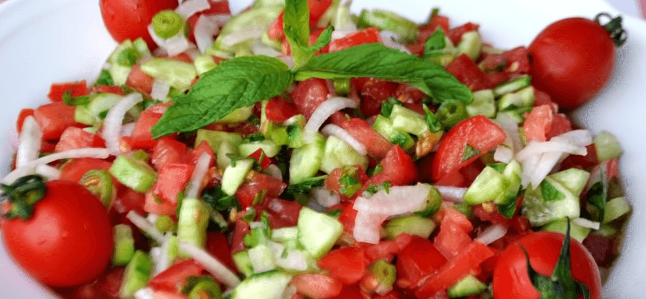 Çoban salatası Tarifi: Hirtensalat - Rezept auf deutsch