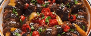 Patlican Kebabi – Rezept für Auberginen-Hack-Pfanne