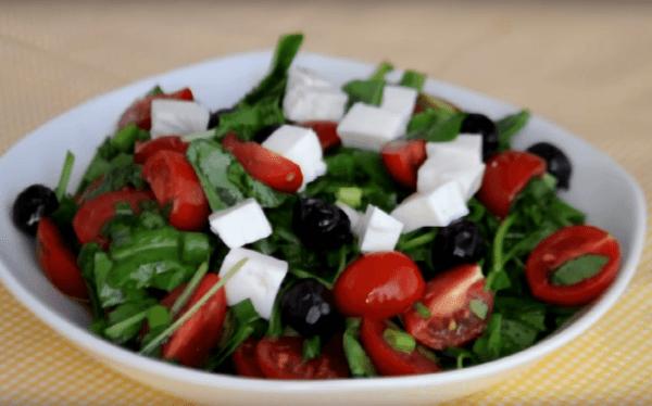 Roka salatası Tarifi: Rucola-Salat - Rezept auf deutsch