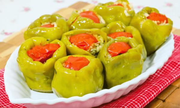 Biber Dolması Tarifi: gefüllte Paprika - Rezept auf deutsch